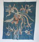 Japanese Antique Textile Futonji with Tsutsugaki Pheonix Motif