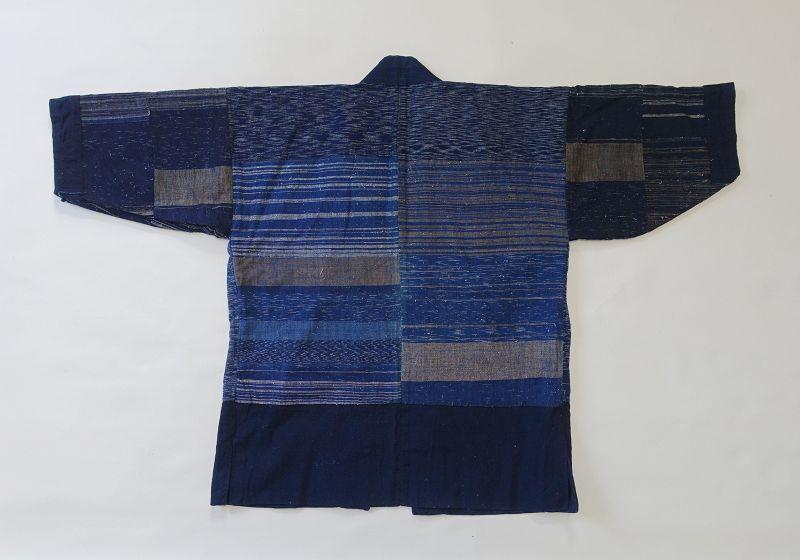 Japanese Vintage Textile Hanten with Zanshi-ori Lining