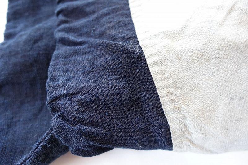 Japanese Antique Textile Asa Hemp Indigo Dye Bag