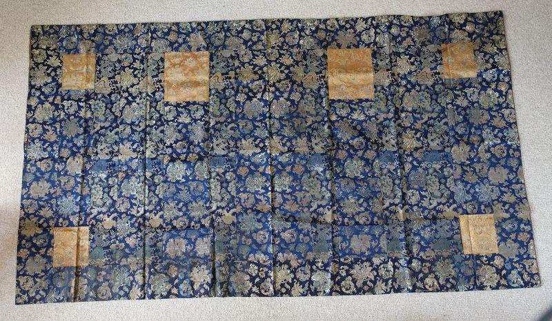 Japanese Antique Textile Buddhist Hichi-jo Kesa Made of Brocade