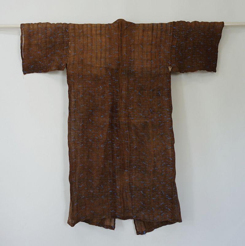 Japanese Antique Textile Okinawan Bashofu with Katazome