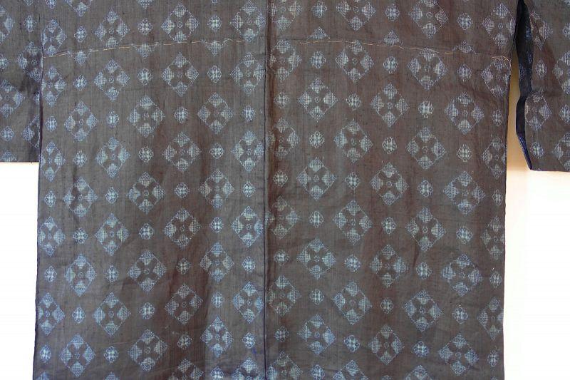 Japanese Antique Textile Miyako-jofu Choma Ramie Kimono