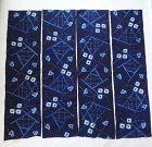 Japanese Vintage Textile Mingei Indigo Dyed Shibori Cloth