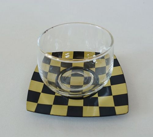 Japanese Vintage Chataku Saucer for Tea Cup Made of Brass