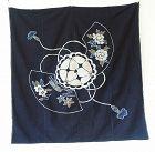 Japanese Antique Textile Tsutsugaki Furoshiki Wrapping Cloth