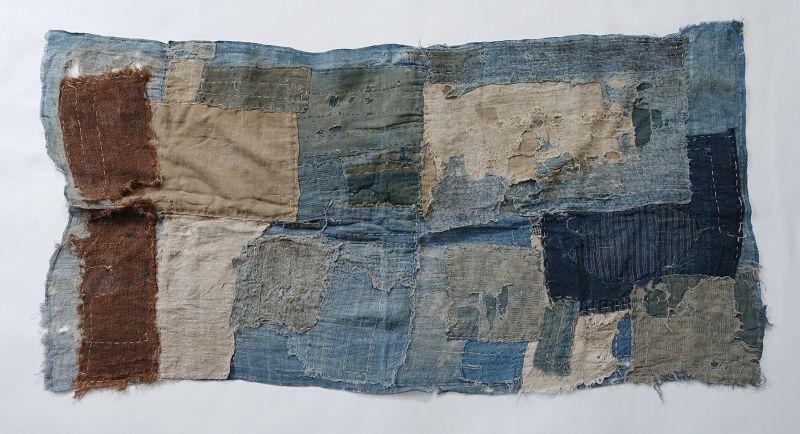 Japanese Antique Textile Boro Asa and Cotton Fragments