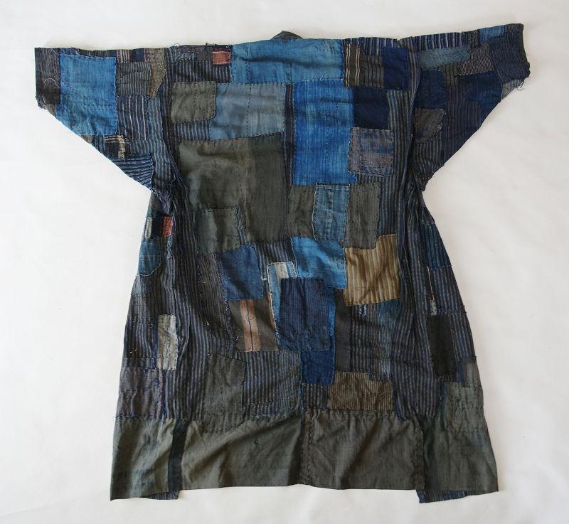 Japanese Vintage Textile Boro Noragi Kimono Stripes