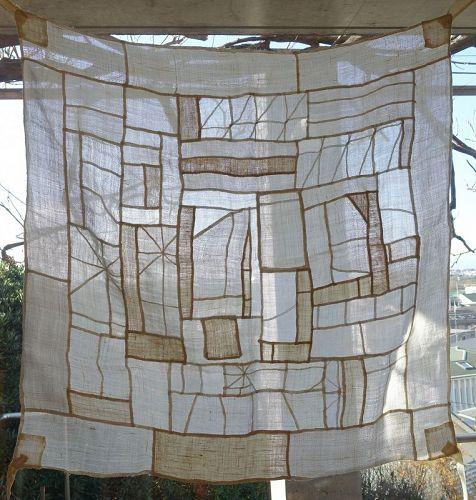 Korean Antique Textile Pojagi Chogappo Made of Asa Fragments