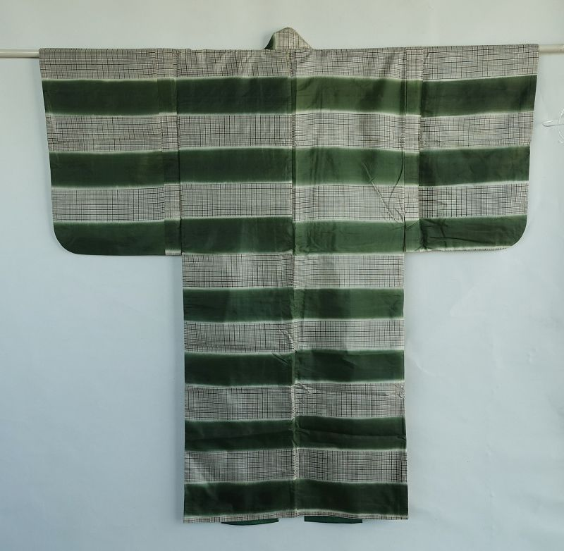 Japanese Vintage Textile Silk Kyogen Costume Kimono for Stage�