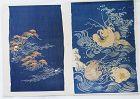 Japanese Antique Textiles Two Fragments of Edo Kosode