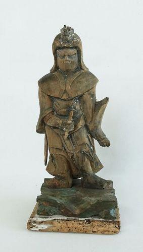 Japanese Antique Wooden Buddha Twelve  Sninsho Early 18th Century