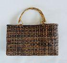 Japanese Vintage Folk Craft Bag Made of Bamboo Splits