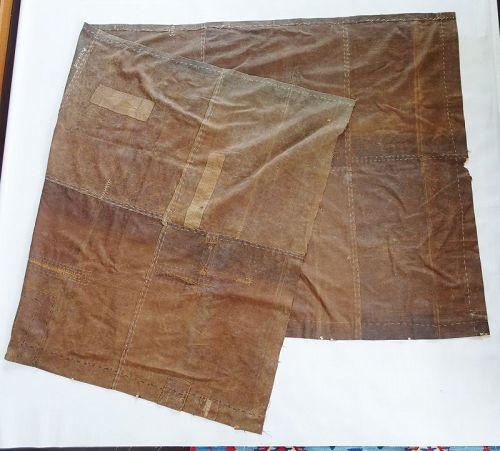 Japanese Vintage Textile Boro Curtain Made of Sake-Bukuro