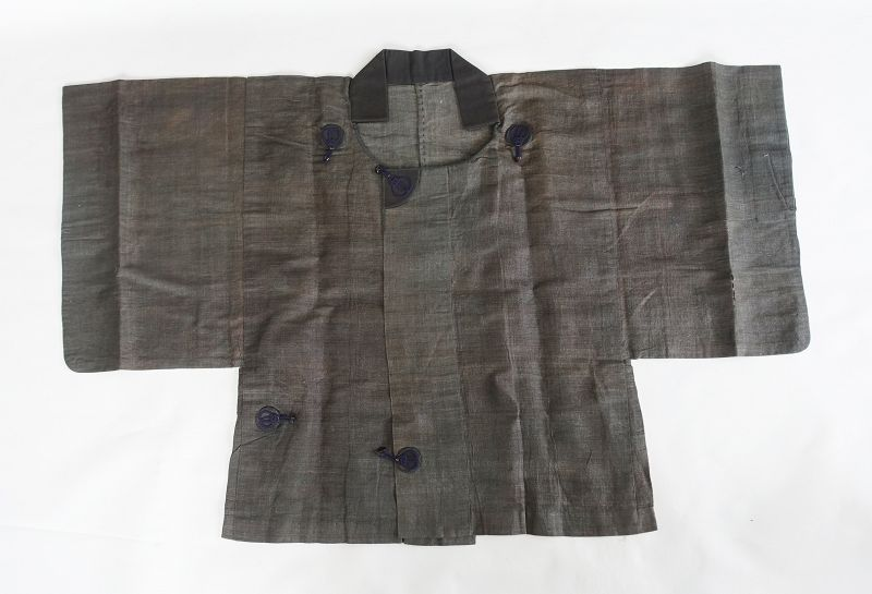 Japanese Antique Textile Han-Gappa Made of Kudzu-fu Bast Fiber