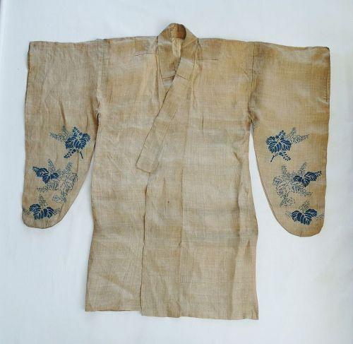 Japanese Antique Textile Palanquin Bearer's Kimono Ryokushaku-Kanban