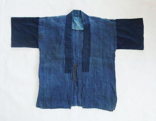 Japanese Vintage Textile Indigo Asa Hemp Noragi