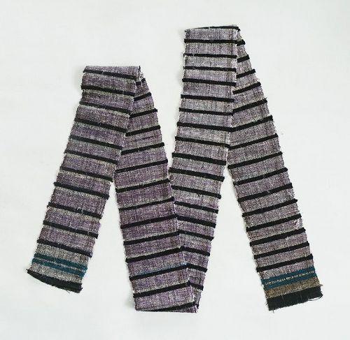 Japanese Vintage Textile Silk Sakiori Obi Sash Recycle
