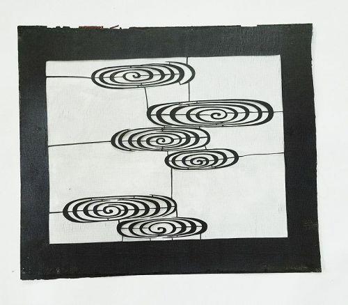 Japanese Vintage Washi Katagami Stencil for Katazome