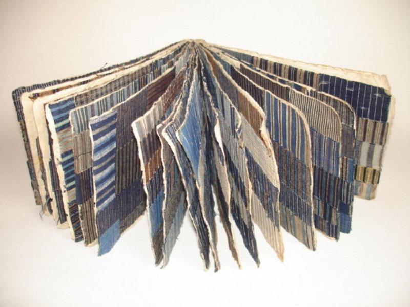 Japanese Antique Textile Shimacho Sample Book