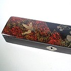 Lacquer over Wood Brush and Seal Box, Meiji era