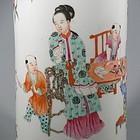 Chinese Famille Rose Porcelain Hat Stand Vase
