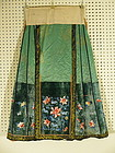 Chinese Silk and Velvet Skirt Embroidered, Qing