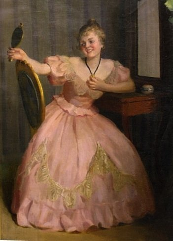 19th C French Oil on Canvas Painting by Emil Papp