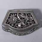Chinese Coin Silver Open Cut Work Reposse Box
