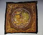 Embroidered Phoenix Kalaga Tapestry Myanmar Burma