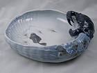 Royal Copenhagen Porcelain Blue Crab Bowl Dish, 1960's Denmark