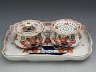 Meissen Porcelain Imari Desk Set w/ Inkwell, Sander, and Tray