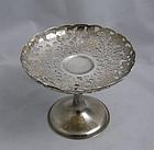 Wang Hing Sterling Silver Pierced Engraved Chrysanthemum Compote