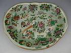 Chinese Porcelain Export Celadon Kidney Shaped Dish, Circa 1890