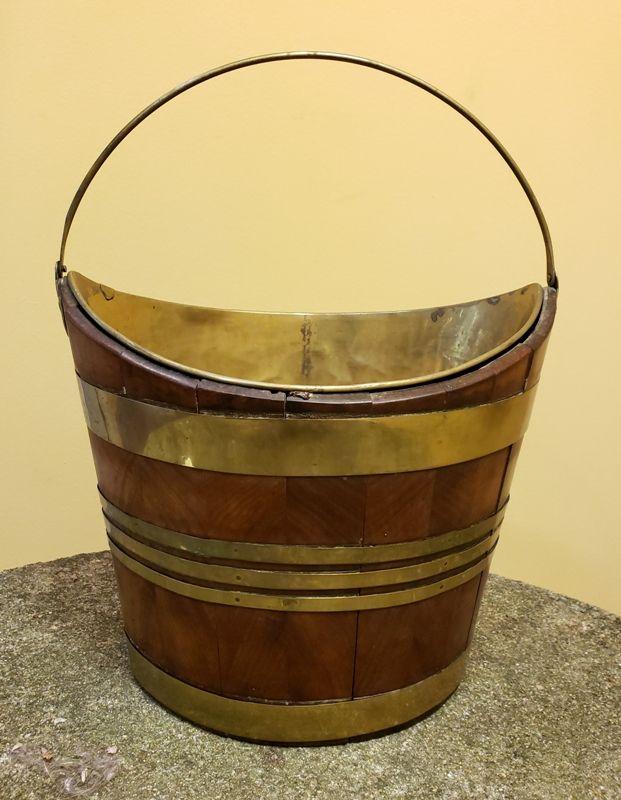 George III Navette English Peat Bucket, 18th Century