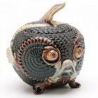 Rare Doulton Lambeth Blowfish Humidor Jar by Mark Marshall