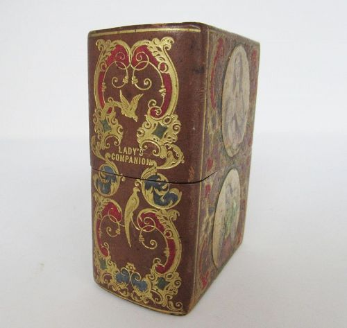 Victorian Ladies' Companion Book Form Sewing Etui, Circa 1850