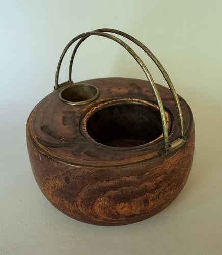 Japanese Kiri Wood Round Smoking Hibachi Set