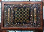 19th C American Faux Marble Painted Slate Chess Game Board