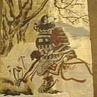 Man�s Japanese Haori with Samurai Warrior, Signed