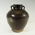 Rare Chinese Song Dynasty Jianyang Temmoku Wine Jar