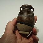 Thai Sawankalok Brown Glaze Ringed Jarlet, 14th C