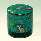 Small Qing Dy Cloisonne Turquoise Tobacco Tea Box