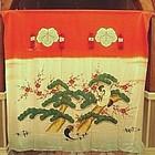 Rare Japanese Textile Bride�s Silk Noren, Tashio