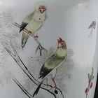 Porcelain Vase Qianjiang Birds Poem Artist Signed