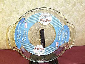 50th Anniversary Fire King Pie Plate 9 inch diameter