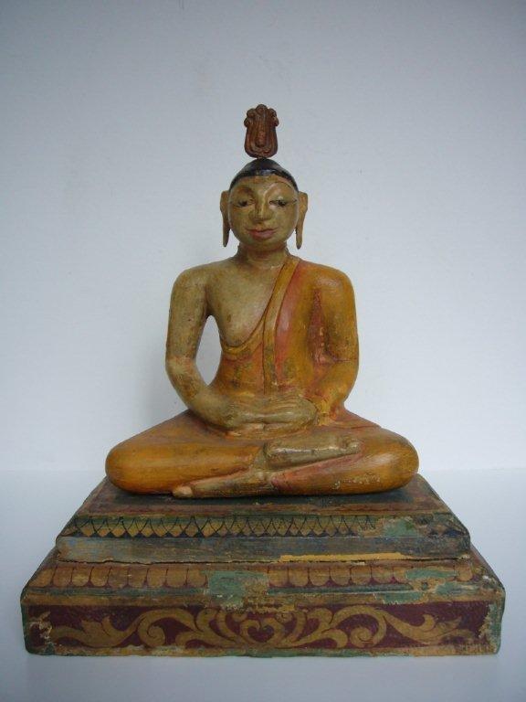 Antique Teakwood Buddha from Sri Lanka