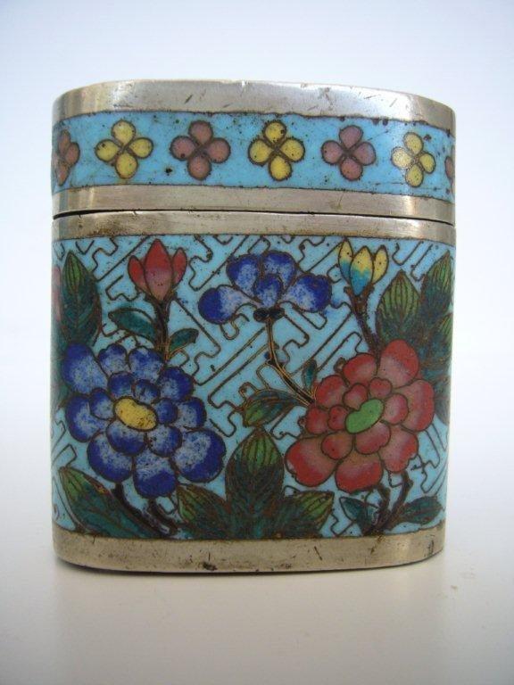 Email Cloisonné Paktong Opium Box