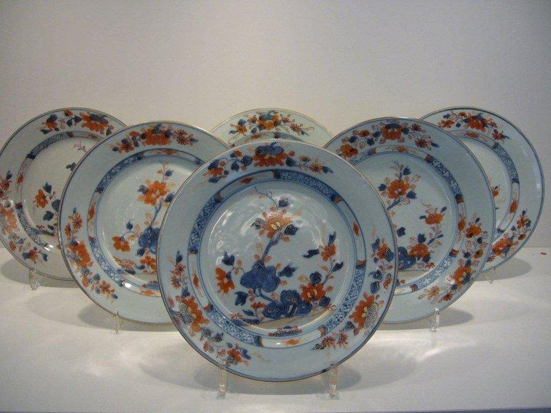 6 Qianlong Chinese Imari Plates