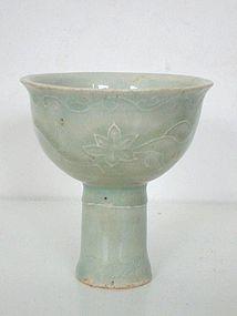 Yuan Dynasty Qingbai Stemcup