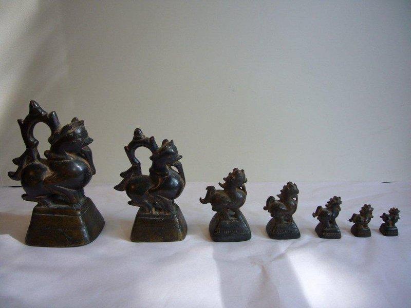 Set of 7 Burmese Opium Weights
